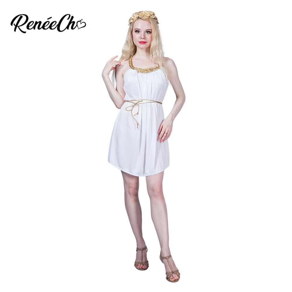 7ee02e359e8e Halloween Costumes For Women Grecian Dress White Greece Toga Goddess  Cosplay Sexy Fancy Dress For historical