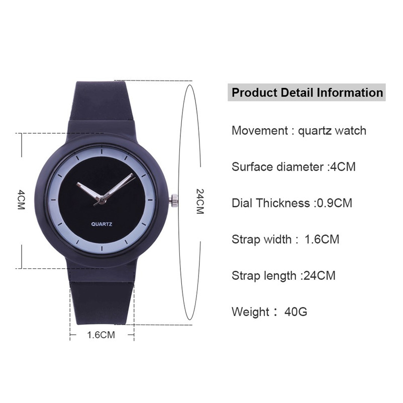 Fashion women watches bracelet watch ladies Silicone Band Analog Quartz Round Wrist Watch Watches clock Relogio Masculino S20 (6)