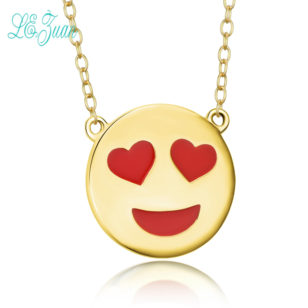 S925 Silver Pendant Necklace For Women Rock Style Face The Like Expression Pack Fashion and Fine Jewelry Christmas Gifts