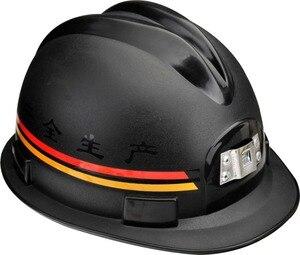 Image 1 - Górników kask ABS materiał czerwony i czarny opcjonalnie