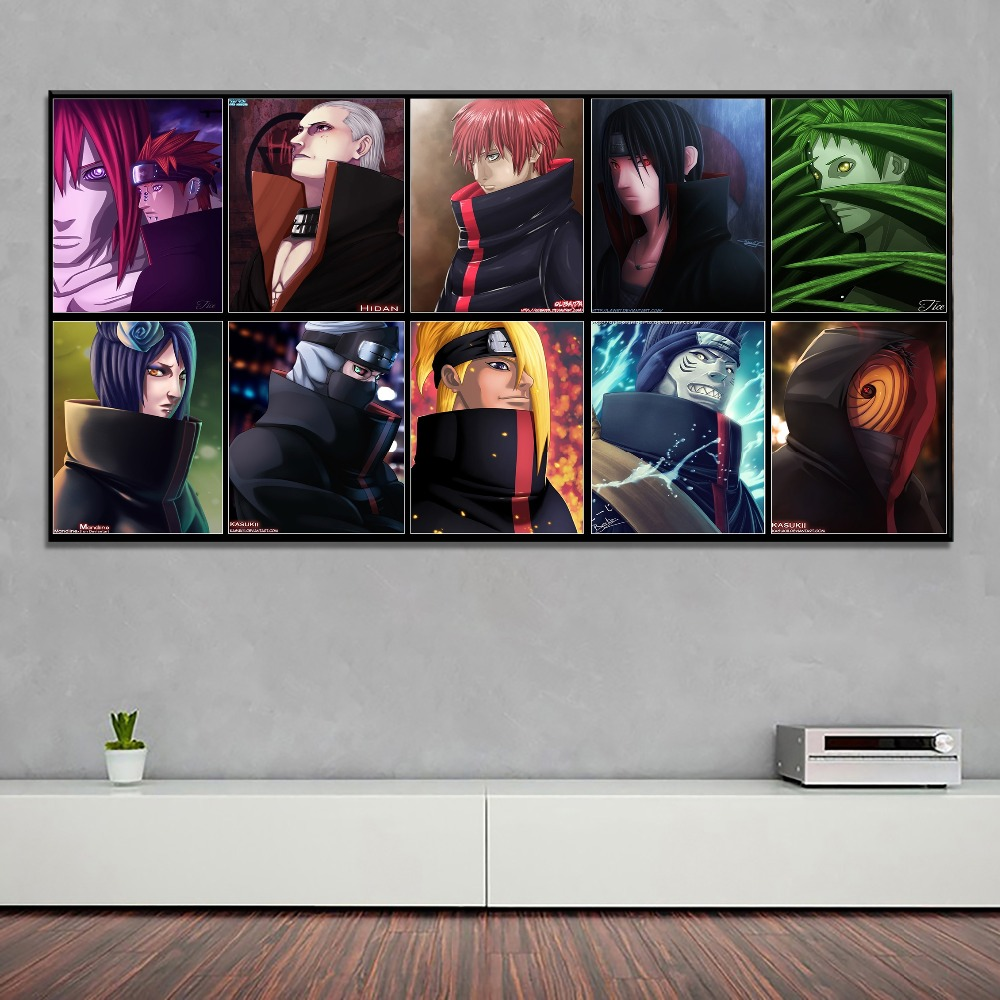 Animation Poster Home Decorative High Quality Canvas Print 1 Piece Naruto Character Painting Modern Bedroom Wall Artwork in Painting Calligraphy from Home Garden