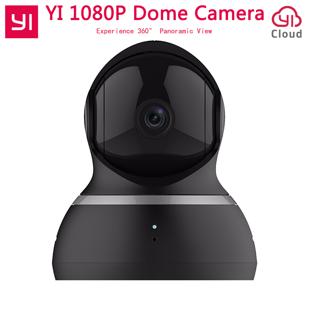 International Edition Yi Home Security IP Camera 1080P Dome Camera 360 degree 112 wide angle