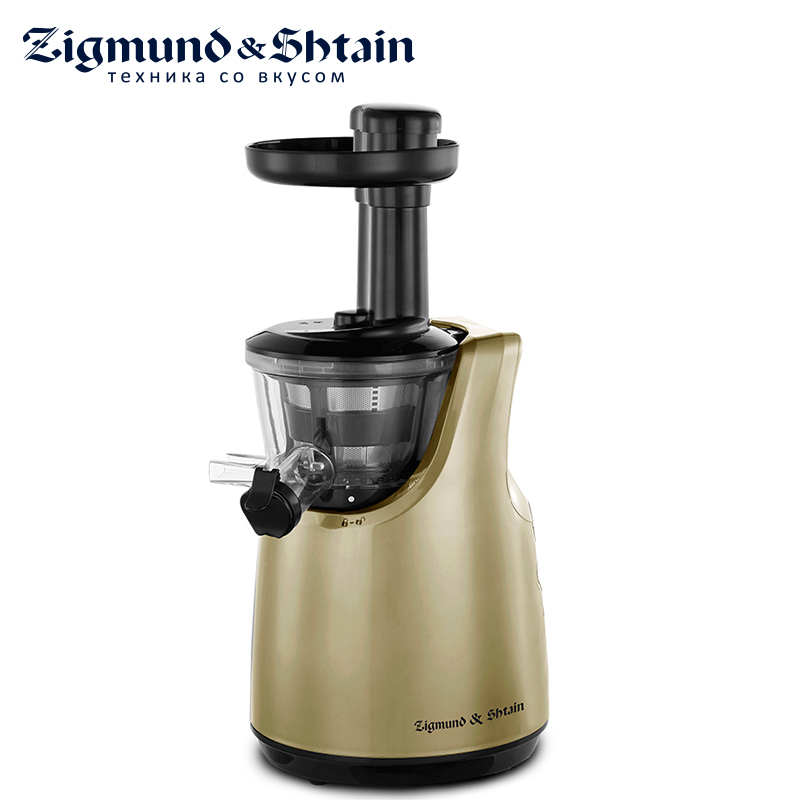 Zigmund & Shtain ESJ-770 Juicer 180W Noise level less than 65 dB Low-speed DC motor Auto shutdown in case of overheating