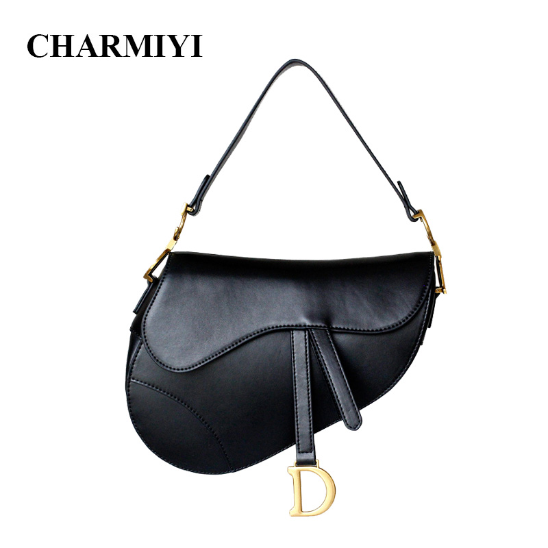 CHARMIYI Luxury Handbags Women Bag High Quality Leather Female Saddle Shoulder Bags Famous Brands Ladies Designer Messenger Bag sgarr soft leather handbags women famous brands luxury bag designer quality casual lady messenger bag female large shoulder bags