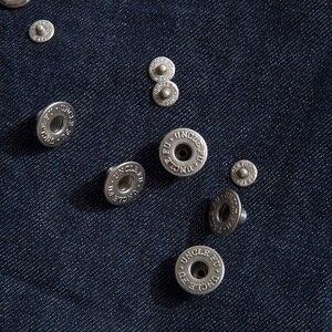 Image 5 - MADEN بنطلون جينز دينم للرجال مقاس كبير وطويل مناسب ومنتظم بنطلون جينز مستقيم خام Selvedge بنطلون أزرق داكن سروال كلاسيكي