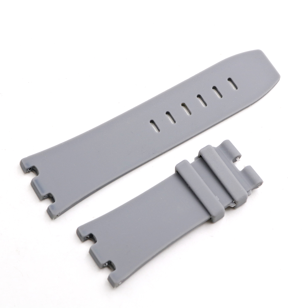 CARLYWET 28mm Wholesale Grey Waterproof Silicone Rubber Replacement Wrist Watch Band Strap Belt in Watchbands from Watches