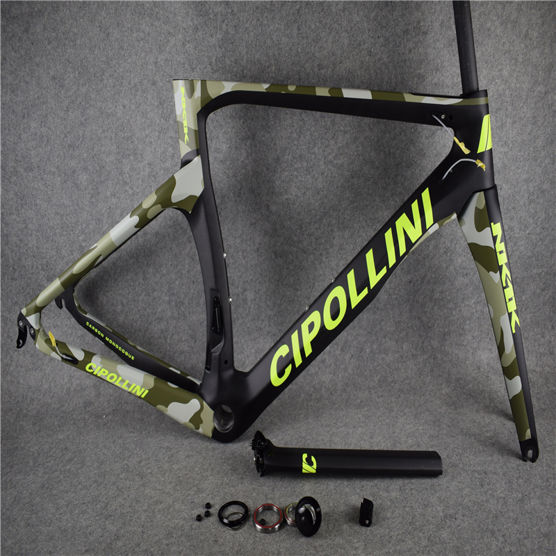 2018 New Color T1000 3K/1K CARROWTER Bicycle Camouflage Cipollini NK1K Carbon Road Bike Frame With BB68/BB30 Matte/Glossy