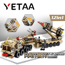 YETAA Military Vehicles Air Defense Patriot Missile Building Blocks Games Legofigure Bricks Minecraft Blocks Toys For Children(China)