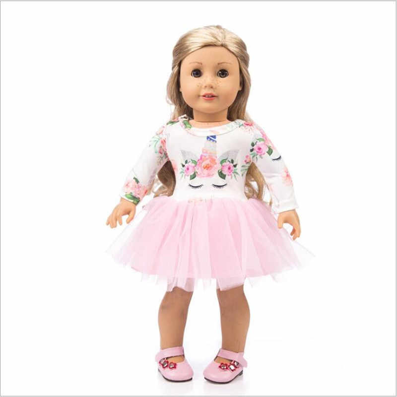 Одежда для новорожденных, 18 дюймов, 40-43 см, кукла, кукла, единорог, лист, торт, юбка, пуховики, одежда, аксессуары для детского подарка