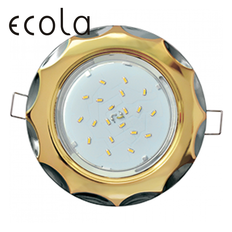 Ecola GX53-H4 Dual Color slim recessed Ceiling Downlight Round Spotlight Hole Spot lamp GX53 Sockets Star 36x106mm jtron 10050100w round hole ndfeb magnet silver 2 pcs