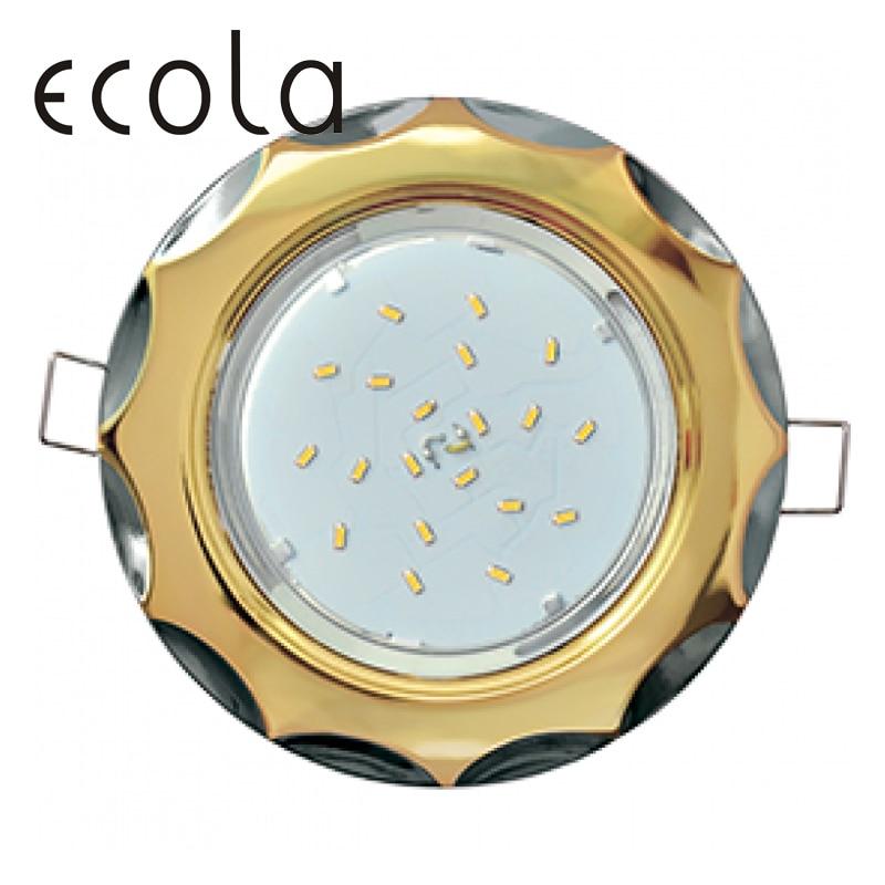 Фото - Ecola GX53-H4 Dual Color slim recessed Ceiling Downlight Round Spotlight Hole Spot lamp GX53 Sockets Star 36x106mm slim hole patchwork leggings