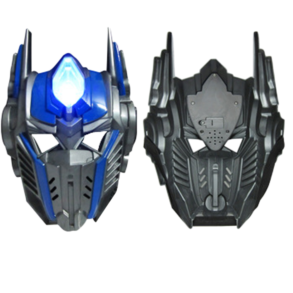 Adult Children Favor Lighting <font><b>LED</b></font> Optimus Prime <font><b>Mask</b></font> Cosplay Costume Huang Feng Masquerade <font><b>Masks</b></font> Party High Quality