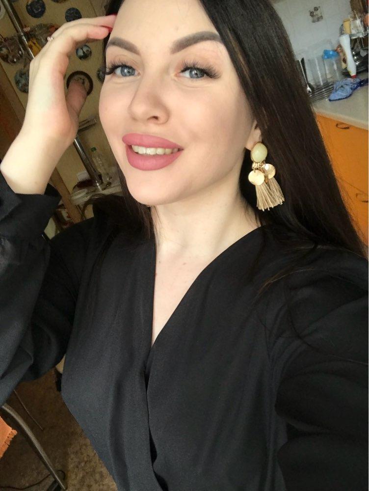 Acrylic Sequin Boho Tassel Earrings photo review