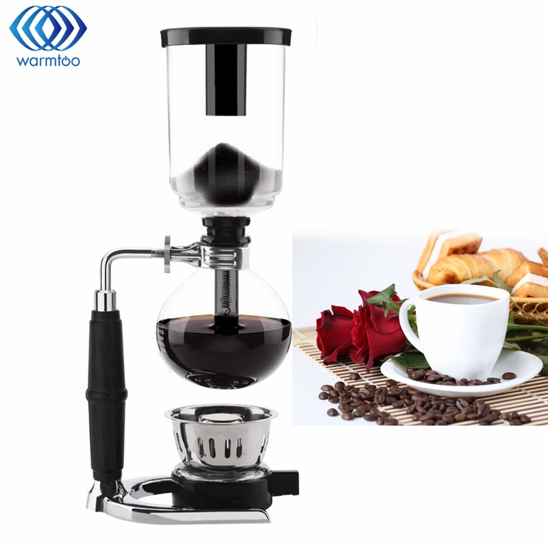 Glass Siphon Coffee Maker Coffee Pot Drip Coffee Maker 3 Cups Ice Cold Drop Kettle Kitchen Grinding Tool High Quality dmwd japanese style siphon coffee maker tea siphon pot vacuum coffeemaker glass hydrocone type coffee machine filter 3cup 5cups