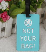 Soft rubber suitcase bag label PVC soft luggage ID address holder environmental travel accessories