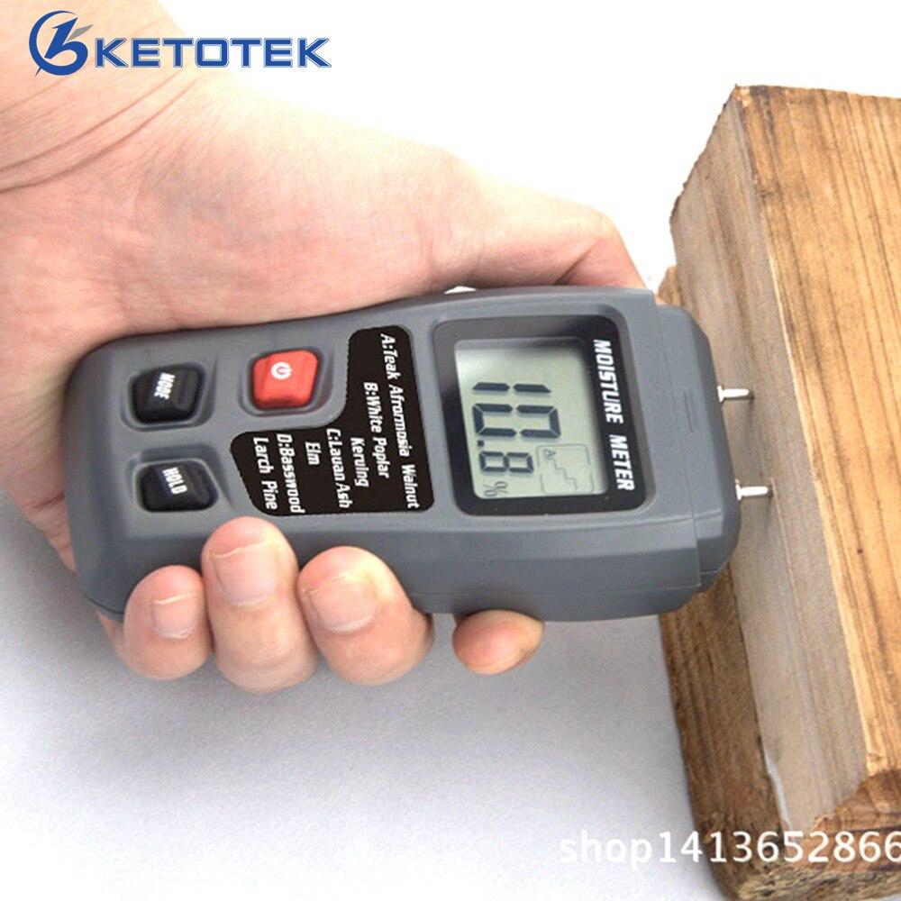 0-99.9% Digital Holz Feuchtigkeit Meter Holz Feuchtigkeit Tester Baum Damp Detector Feuchtigkeit Tester