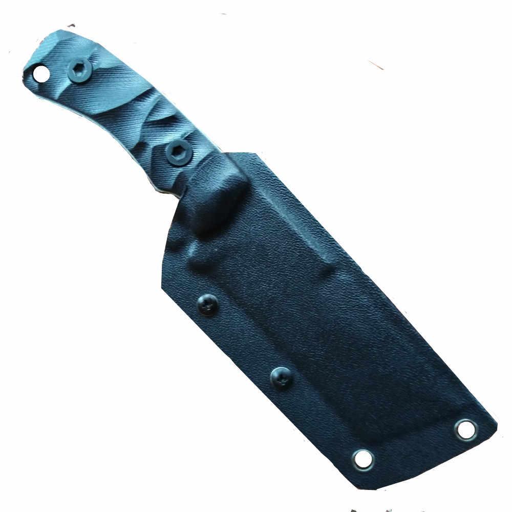 كامل تانغ جديد في الهواء الطلق سكينة تكتيكية بقاء أدوات التخييم جمع الصيد السكاكين D2 الصلب G10 مقبض شفرة مثبتة سكين