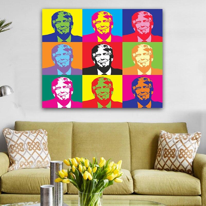 American Donald Trump Poster Modern Home Wall Decor Canvas ...