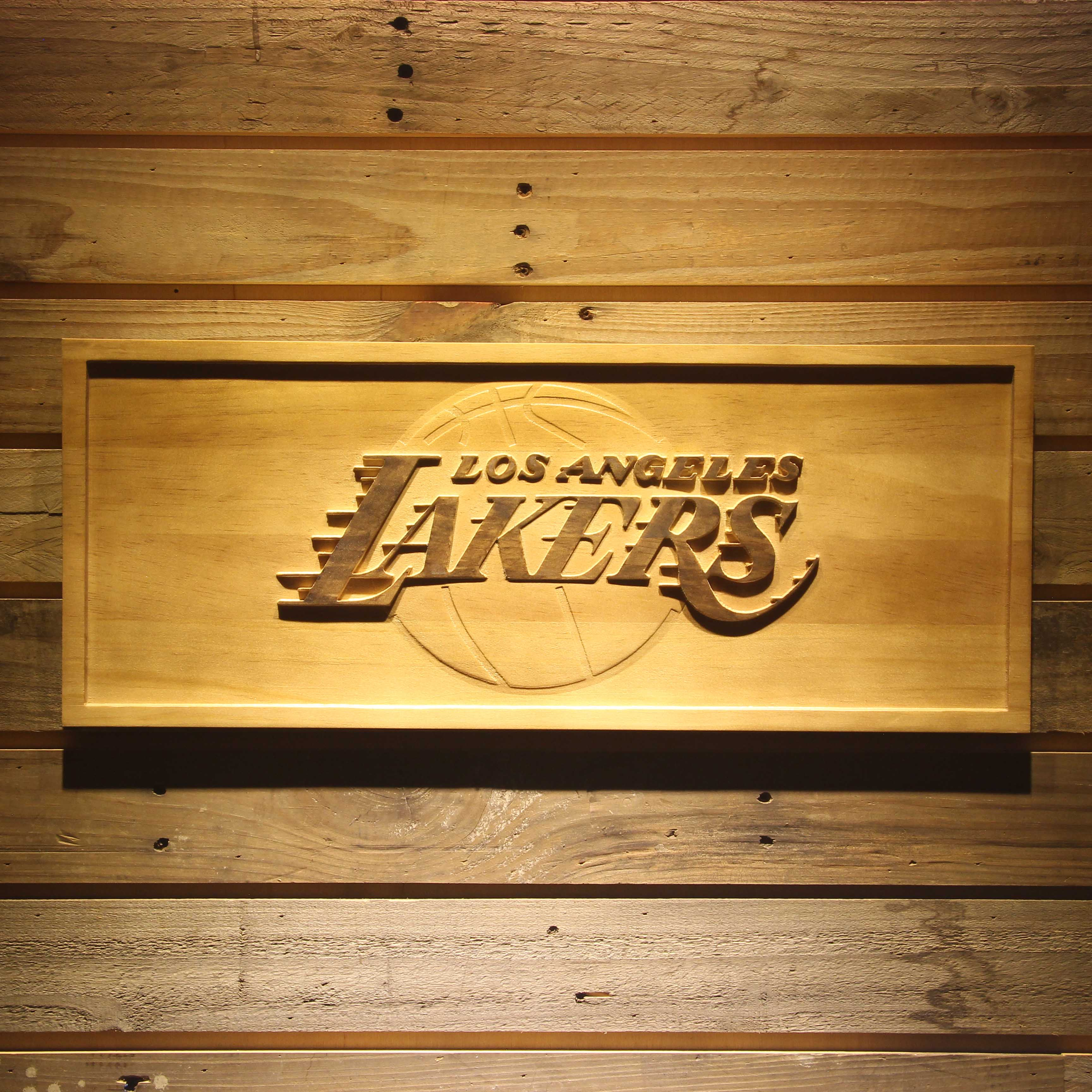 Los Angeles Lakers 3D Wooden Sign-in Plaques & Signs from Home ...