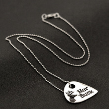 Fashion Jewelry Couple Gift BFF Lover Letter her buck & his doe Pendant Necklace Women Men Friendship Necklaces