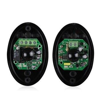 12 В или 24 В активный фотоэлектрический один 1 инфракрасный луч датчик барьер детектор для ворот, двери, окна Охранная сигнализация