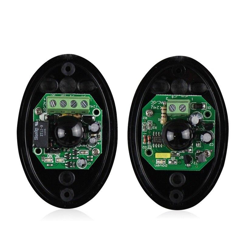 12 V 24 V Singolo one 1 Sensore a raggi infrarossi Barriera Rivelatore Fotoelettrico Attivo per Cancello Porte E Finestre allarme antifurto sistema