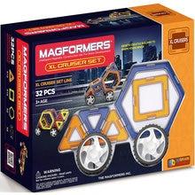 Магнитный конструктор MAGFORMERS XL Машины, 32 детали