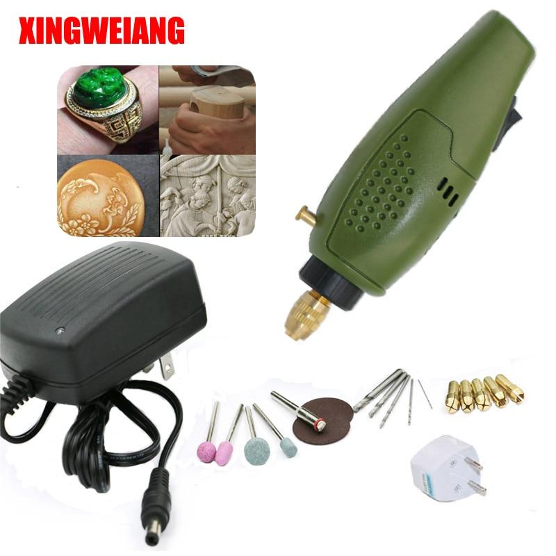 XINGWEIANG Mini perceuse Électrique accessoires Électrique Ensemble De Broyage 12 V DC Grinder Outil pour Fraisage Forage Polissage Gravure