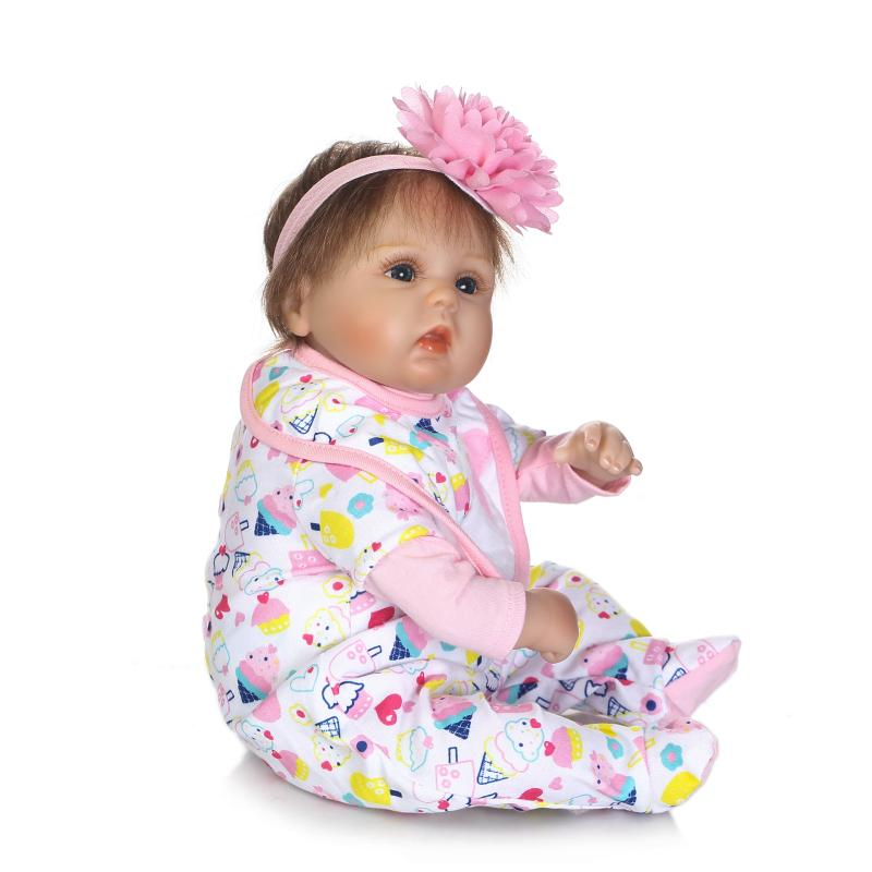 New NPK Silicone Reborn Baby Dolls In Pink About 42CM Lovely Doll Reborn For Baby Gift Bonecas Bebe Reborn Brinquedos