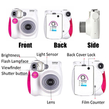 Fujifilm Instax Mini 7s Camera Set + 10 In 1 Kit Close up Lens+Stickers+Other Accessories / With 20 Sheets White Mini Film Photo