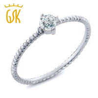 0 15 Ct Round Diamond 10K White Gold Engagement Solitaire Ring