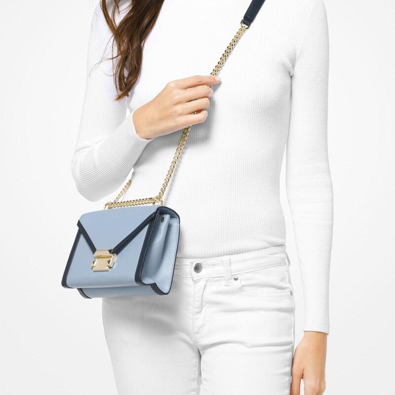 e19b286ea987 FSO- Michael Kors Official MK Women Bag Whitney Small Leather Shoulder Bag  designer brand Luxury Women Handbags