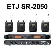 ETJ BK2050 sistemas Sem Fio in ear Monitor Do Sistema de monitoramento de ouvido sistema de monitor de palco sem fio bodypack SR2050 IEM monitor