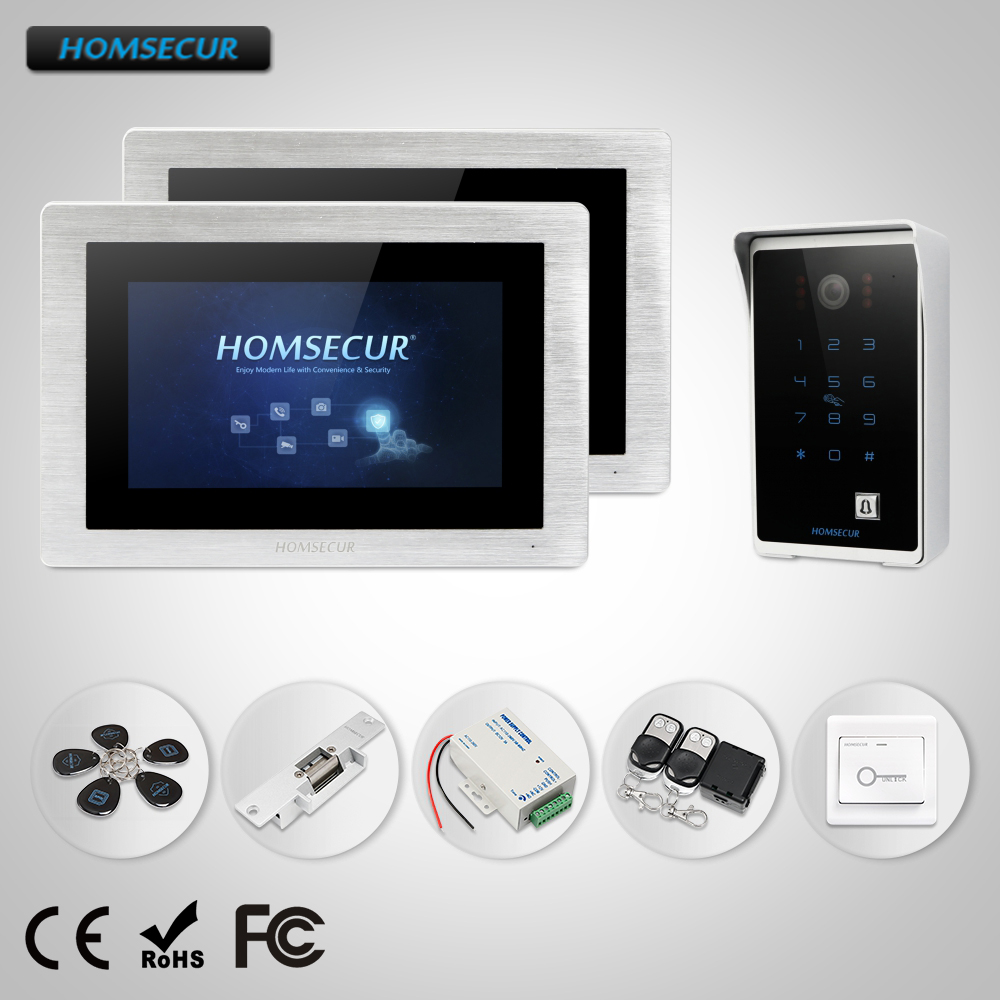 HOMSECUR 7 Wired Video&Audio Home Intercom Password Access Wide Angle for Home Security  BC081 + BM714-SHOMSECUR 7 Wired Video&Audio Home Intercom Password Access Wide Angle for Home Security  BC081 + BM714-S