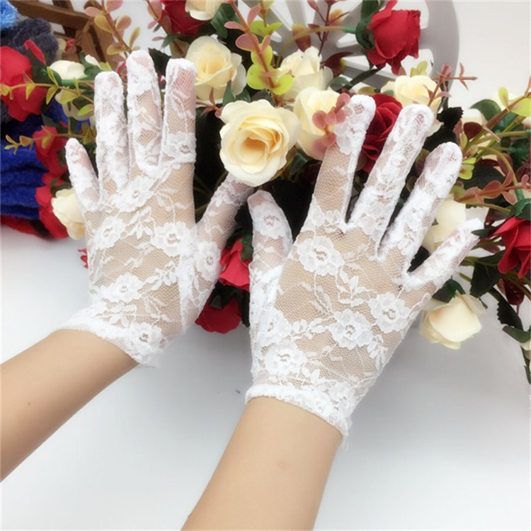 The brides wedding glove lace Wedding decoration party gloves on valentines day gift Lace white gloves