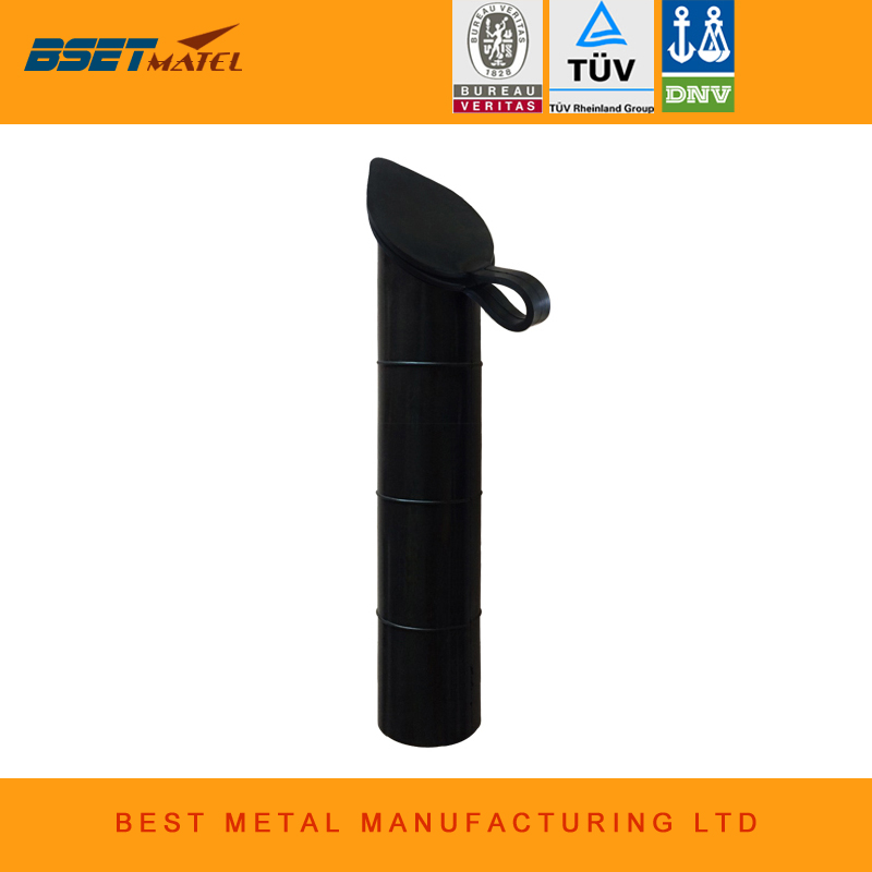 Black color 30 degree Fishing Rod holder Inner Sleeve Rod Pod Rubber Cap Tube Liner ...