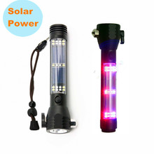 10 in1 Tactical Solar Power EDC flashlight LED w/usb Self defense Camping Outdoor survival Multi tools Glass Breaker for bike b