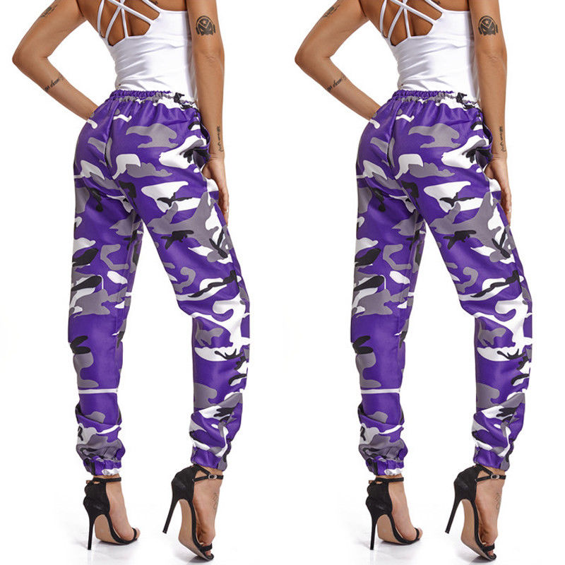 Summer Camouflage Pants Camo Cargo Trousers Pants Casual Pants Military Army Combat Camouflage Jeans Pencil Pants Pink Red Gray (18)