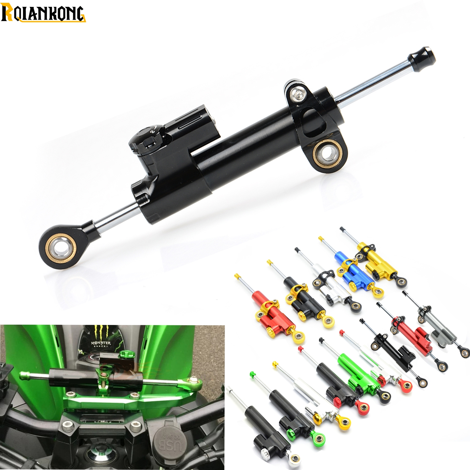 CNC Aluminum Motorcycle Steering Damper Stabilizer Linear Safe Control for KTM 200 250 390 690 990 Duke RC SMC/SMCR Enduro R cnc motorcycle billet rear brake pedal step tips pedal for ktm 690 smc supermotor enduro 690 duke 950 990 adv 125 200 390 duke