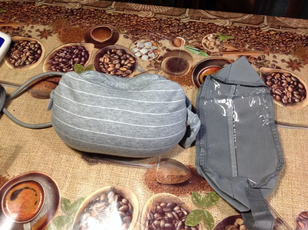 Portable best travel neck pillow for long flights photo review