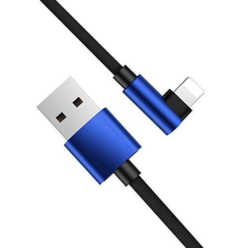 Para iPhone XS Max XR 1 m Cable de carga USB para iPhone 5 5S 6 S 6 7 8 Plus X SE cargador rápido Cable de sincronización Azul