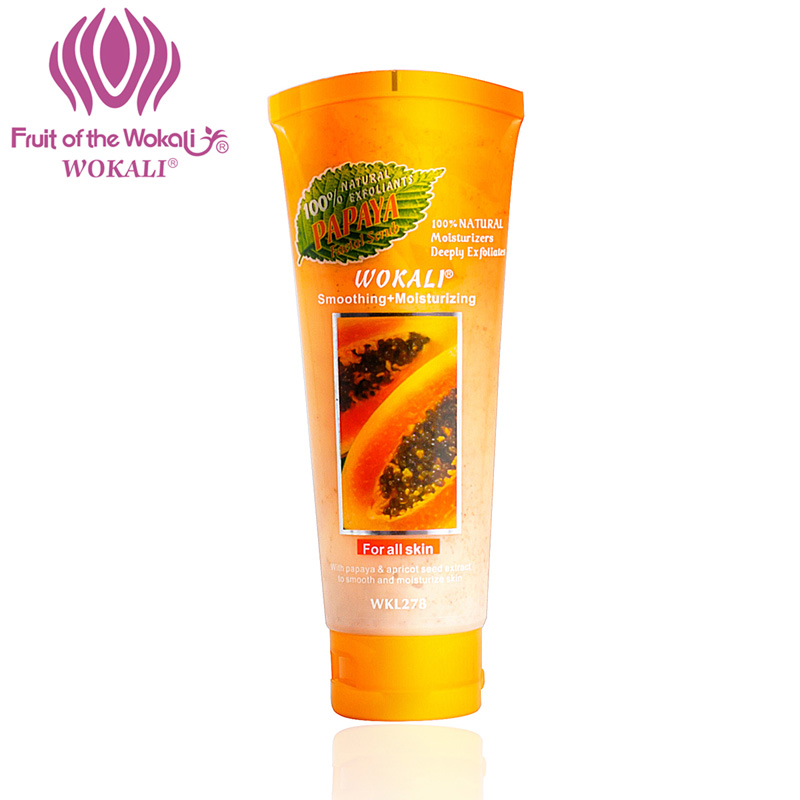 WOKALI 100g Natural Exfoliating Scrub Papaya cleaning Whitening Moisturizing Body milk Peeling Cream Scrub gel
