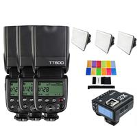 3 X Godox TT600S High Speed Sync Built in 2.4G Wireless Flash Speedlite + X2T S for Sony A9 A7M3 A7R3 A7S A7 III II A6500 A6400