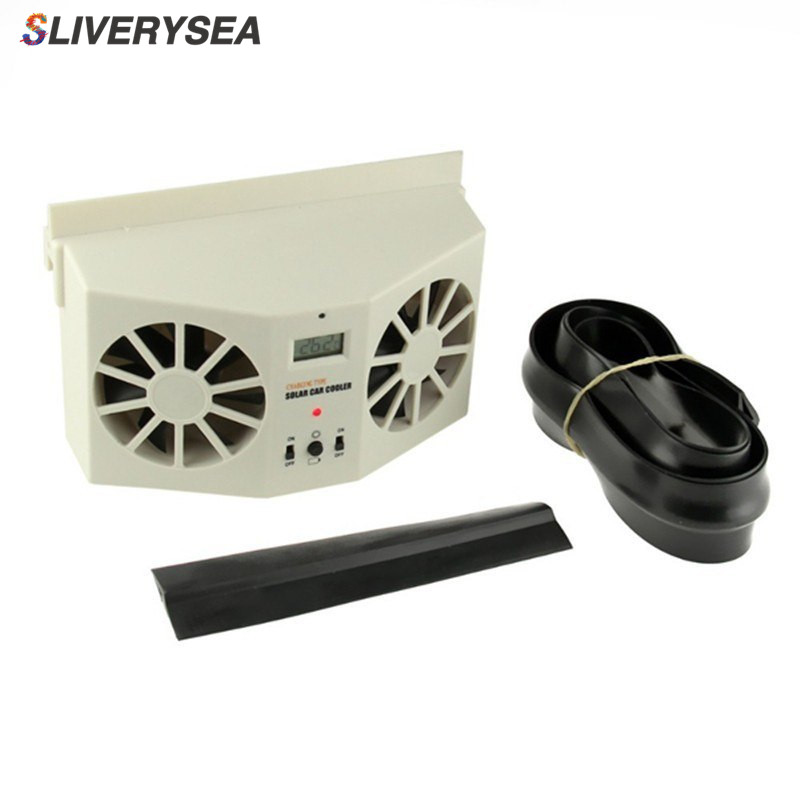 Hot Sale Solar Sun Power Car Auto Air Vent Cool Fan Cooler Ventilation System Radiator,Can be use battery car Purifiers