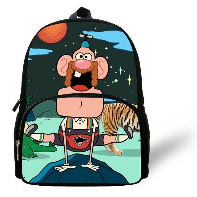 Popular Kids Cartoon Backpacks For Preschool Uncle Grandpa ...
