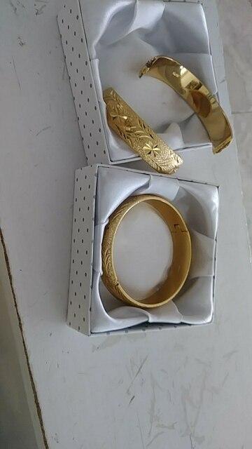 Classic Womens Wedding Bridal Bangle Bracelet Dubai Bangle Jewelry  Africa Arab Thick Bangles Jewely