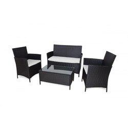 KieferGarden. Conjunto sofa Washington. Envio desde España. Ratán. Conjunto muebles außen. Sofa doble, 2 sillones y 1 mesa.