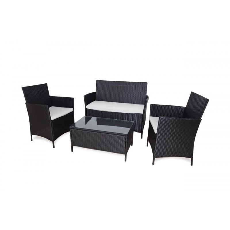 KieferGarden. Conjunto Sofa Washington. Envio Desde España. Ratán. Conjunto Muebles Exterior. Sofa Doble, 2 Sillones Y 1 Mesa.