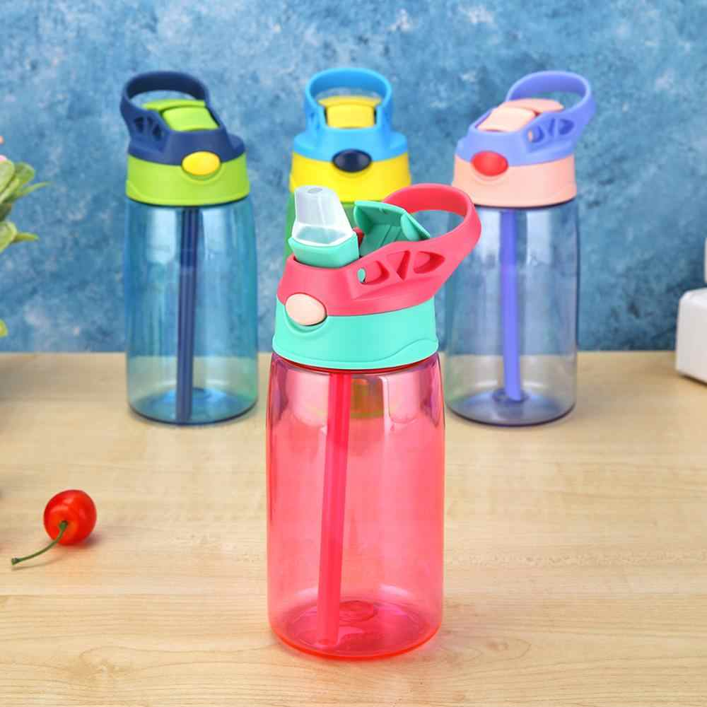 480mL Plastic Portable Water Bottle Sport Running Climbing Drinking Cup Leakproof Sports Water Bottle With Straw Kids Water Cup