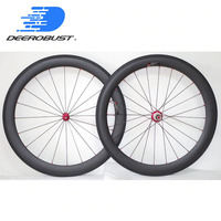 1323g Straight Pull 700c 60mm Deep Carbon Tubular Road Bike Wheelset Bicycle Wheels Wheel Powerway R36 hubs 20/24H 3k Matte